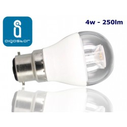 4w B22 LED Golf Ball bulb Warm White