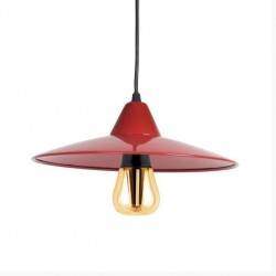 Kanlux Jovit Pendant Lamp with 8w Retro Style bulb - Red