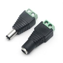 Pair (Male & Female) 2.1x5.5mm DC 12V EZ connector