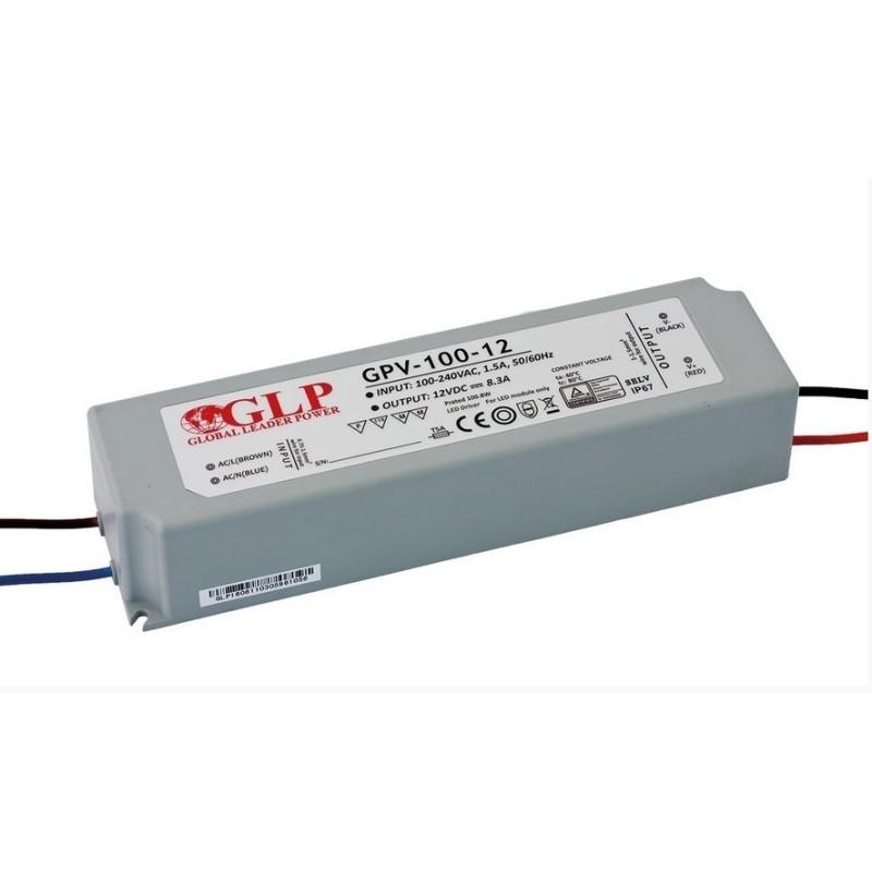 GLP 12v Power Supply Waterproof - 100w