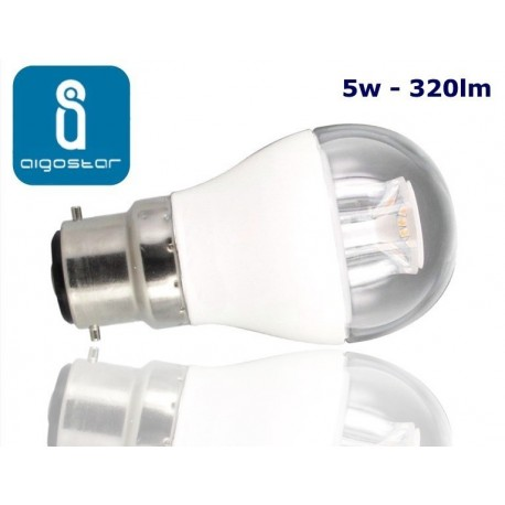 5w B22 LED Golf Ball bulb Warm White