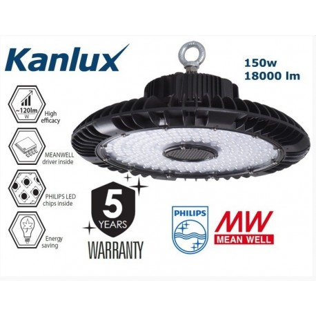 150w High Bay - Philips LED - Meanwell Driver