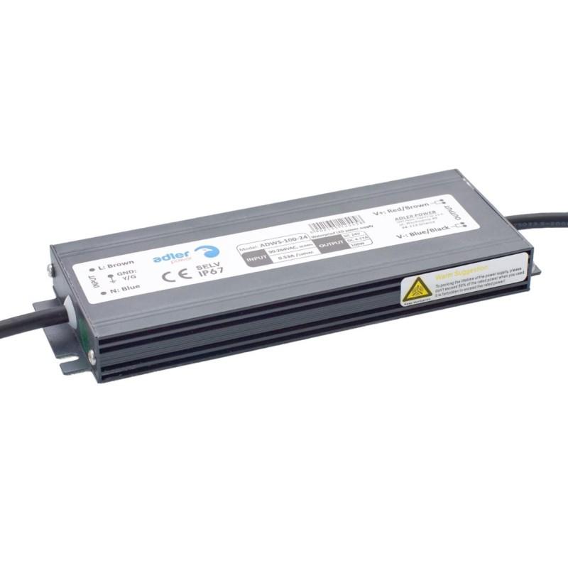 Adler Waterproof Slimline 12v 100w Power Supply