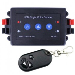 12-24V LED RF Dimmer Switch with Remote + Manual Controls