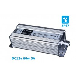 Waterproof LED power supply 12V / 5A 60W