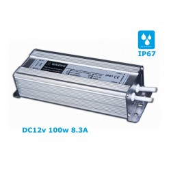 Waterproof LED power supply 12V / 8.3A 100w