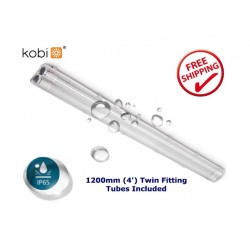 LED HERMETIC TWIN 120cm + 2x LED T8 16W COLD WHITE