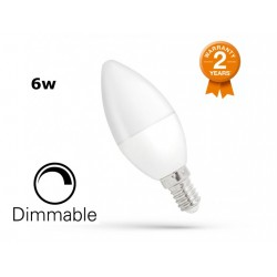 Dimmable E14 Candle Bulb 6w