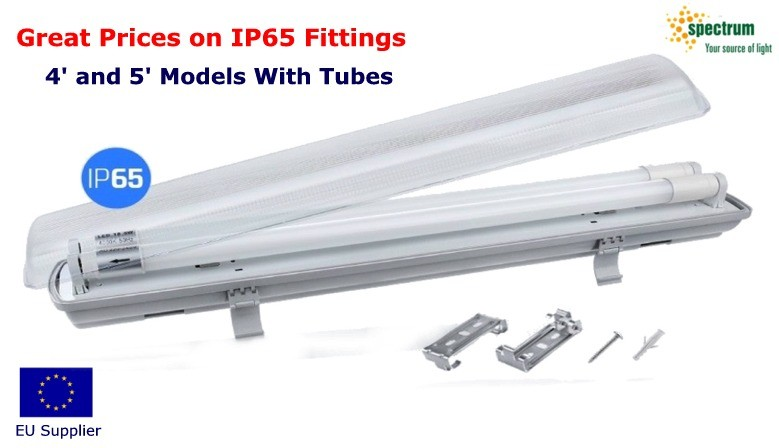 Fluorescent Fitting With LED Tubes